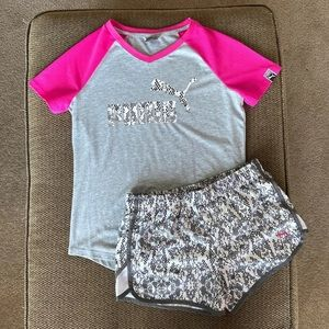 Girls Puma top and shorts brand new no tags.